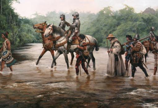 """""""La marcha a Tenochtitlán"""" de Cortés"""
