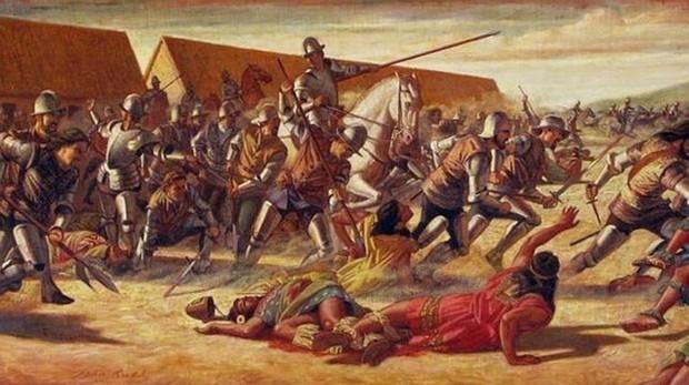 Francisco Pizarro, durante la conquista de Perú