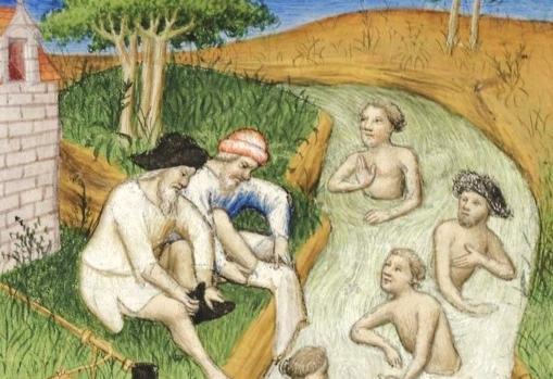 Detalle de una ilustración del Liber de quibusdam ultramarinis partibus, Guillaume de Boldensele, de 1410