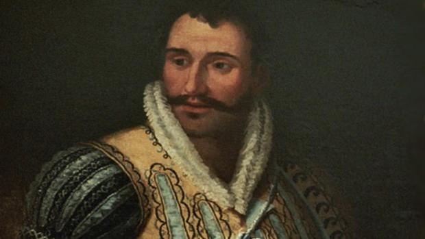 Retrato de John Downie, vestido como soldado de la época de Carlos V