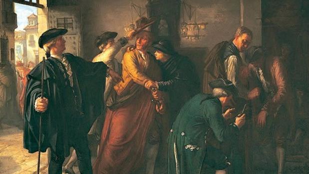 Un episodio del motín de Esquilache, una pintura de historia de José Martí y Monsó