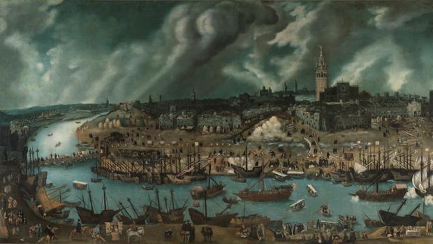 Vista de la ciudad de Sevilla, a finales del siglo XVI
