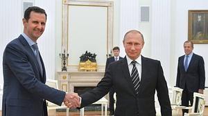 Al Assad se reunió con Putin en Moscú para hablar de la campaña militar en Siria