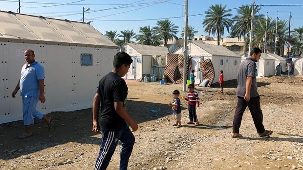 Campamento para desplazados al oeste de Bagdad