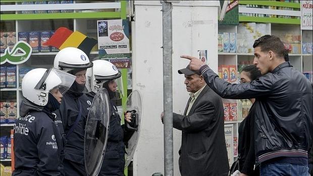 Una redada policial en Molenbeek