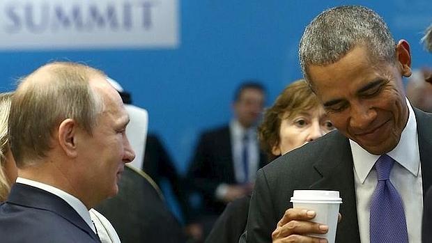 Putin y Obama conversan durante la cumbre del G20