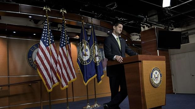 El presidente de la Cámara baja, Paul Ryan, habla del voto en el Congreso