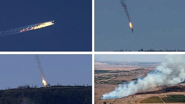Turquía derriba un avión de combate ruso en el norte de Siria por violar su espacio aéreo