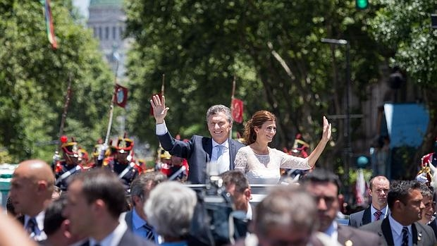 Los argentinos «se entregan» durante la toma de posesión del presidente Mauricio Macri