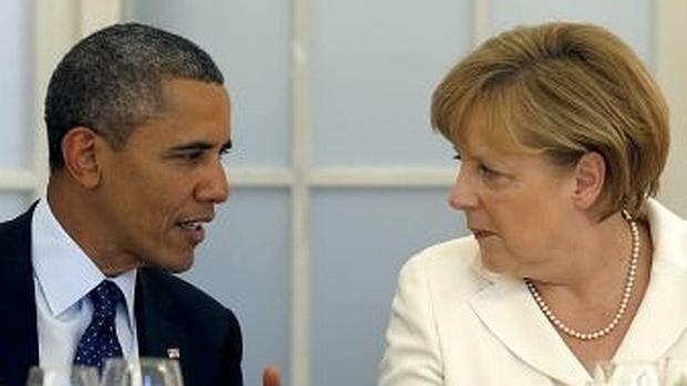 Obama pide más ayuda a Merkel en Siria