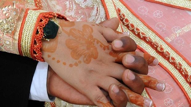 Detalle de una boda con una menor en Marruecos