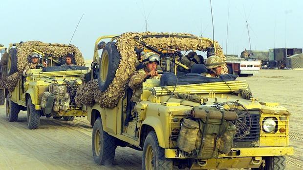 Soldados británicos durante la invasión a Irak en 2003