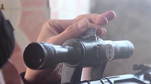 """Imagen de la versión yiihadista de """"El francotirador"""""""