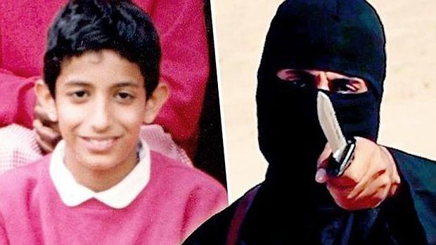 Mohamed Emwazi de adolescente y a la derecha convertido en John «el yihadista»