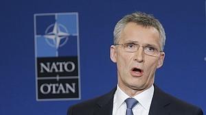 El secretario general de la OTAN, Jens Stoltenberg,ayer en Bruselas