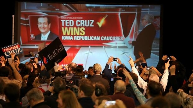 Ted Cruz se impone a Trump en los caucus republicanos de Iowa