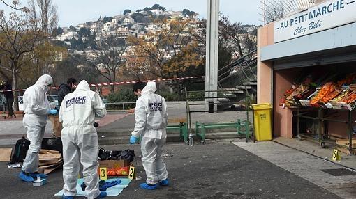Imagen de un asesinato de la pasada semana en el norte de Marsella