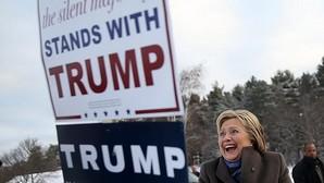 Hillary Clinton hace campaña este martes en Nashua (New Hampshire)