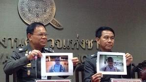 Altos mandos policiales tailandeses muestran fotos de Artur Segarra