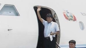 El líder boliviano, Evo Morales, llega a la localidad de Chimore a inaugurar un centro de entrenamiento militar