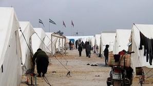 Campamento de desplazados sirios de Alepo junto a Azaz