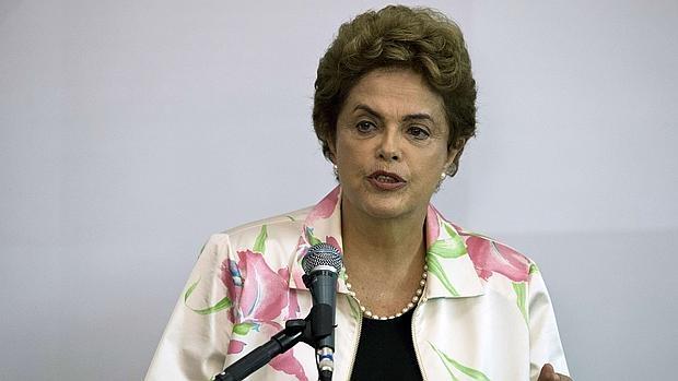 Dilma Rousseff, durante un acto oficial este lunes en Sao Paulo
