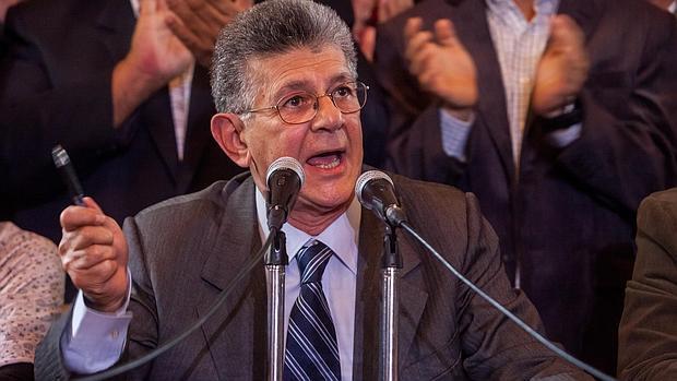 Henry Ramos Allup, presidente de la Asamblea de Venezuela