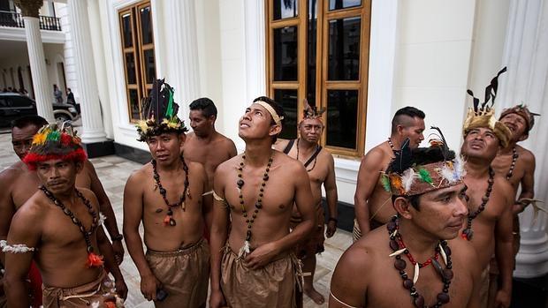 Representantes de los pueblos indígenas se hicieron presentes en la Asamblea Nacional (AN), para mostrar apoyo a los diputados representantes del estado Amazonas