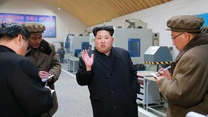 Kim Jong-Un, en un acto oficial