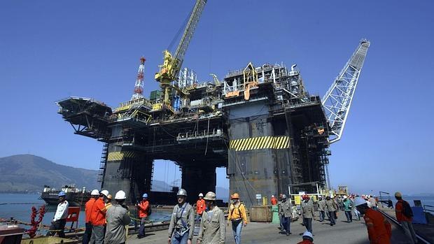 Trabajadores de Petrobras, en 2008