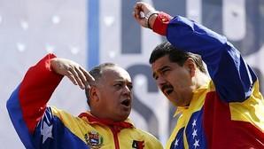 Cabello y Maduro, durante una manifestación chavista en Caracas