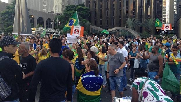 Las protestas en Sao Paulo