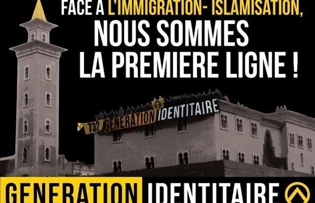 Cartel del movimiento «Génération Identitaire«