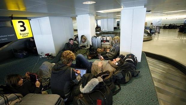 Una sala del aeropuerto Charles de Gaulle