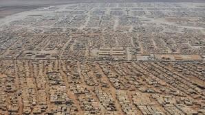 Imagen aérea del campo de refugiados de Zaatari, en la frontera entre Siria y Jordania