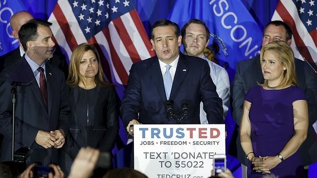 Ted Cruz, en un acto de campaña en Wisconsin