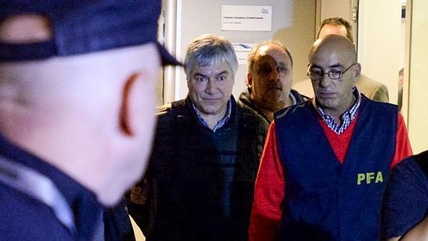 Lázaro Báez en el momento de su detención