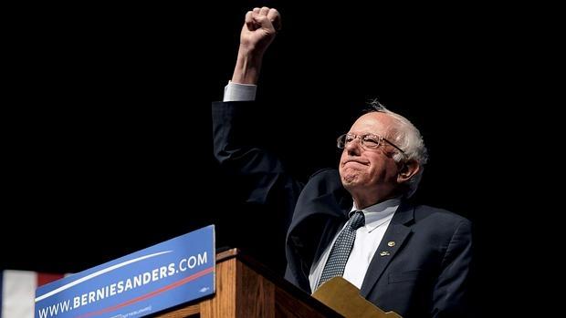 Bernie Sanders, en una acto de campaña en Wyoming