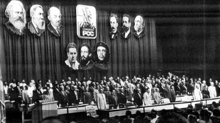 Tercer congreso del PCC, celebrado en febrero de 1986