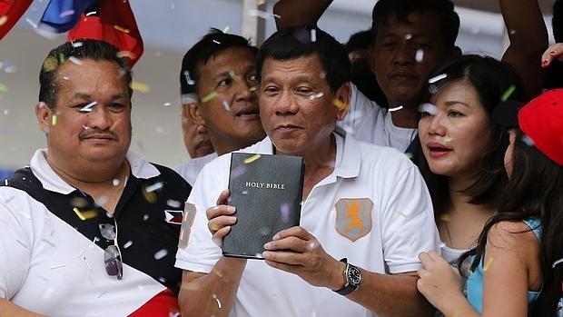 Rodrigo Duterte, durante un acto de campaña en la pasada semana