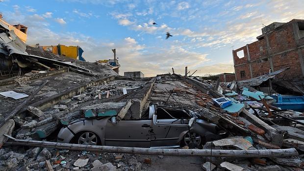 Una imagen de la destrucción en Manta