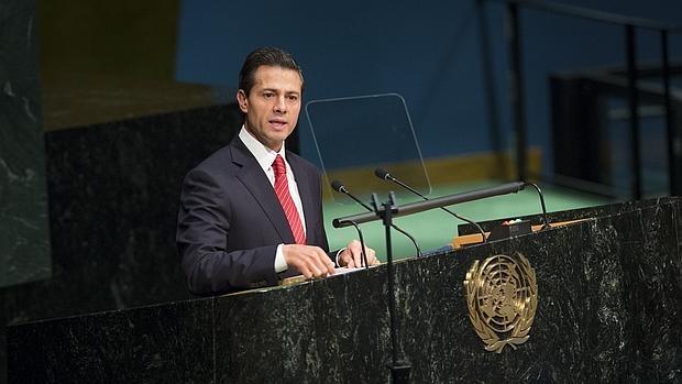 Enrique Peña Nieto, durante su discurso en la ONU