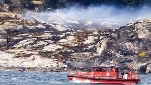 Imagen de las labores de rescate en la costa noruega