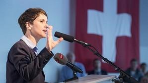 La líder de AfD, Frauke Petry, durante una intervención en Interlaken, Suiza