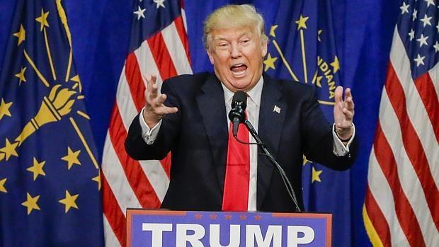Donald Trump, en Indiana