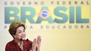 Rousseff, durante un acto en el Palacio de Planalto en Brasilia