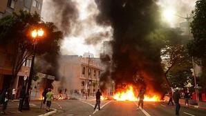 Protestas contra el juicio político en el Congreso a la presidenta Dilma Rousseff en Sao Paulo
