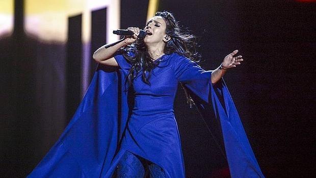 La cantante Jamala en un momento de la actuación