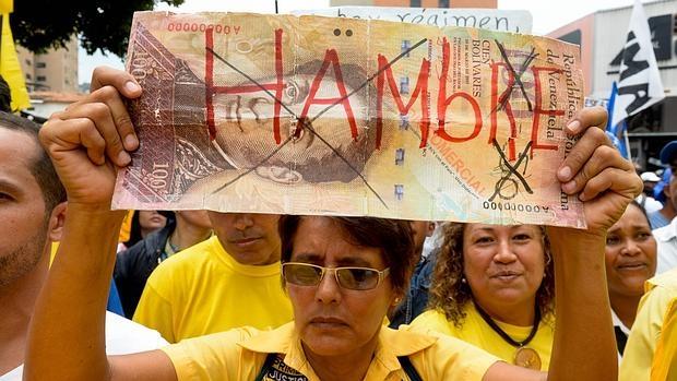 Protesta contra el Gobierno de Nicolás Maduro el pasado fin de semana en Caracas