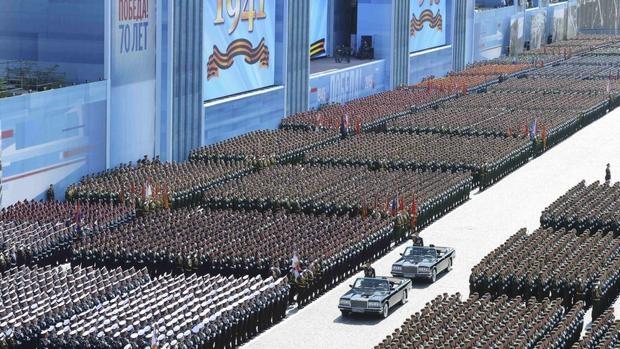 Desfile militar durante el Día de la Victoria, en el año 2015